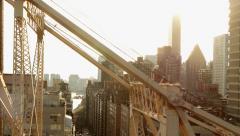 aerial view of skyscraper buildings in new york city - stock footage