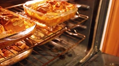Baked french toast 1 Stock Footage