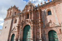 cathedral of santo domingo - cusco, peru - stock photo