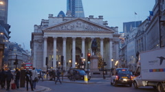Bank of England in London - stock footage