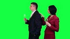 Business fourchette chroma key Stock Footage