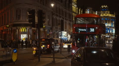 London Shaftesbury Avenue Stock Footage