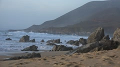 Big sur beach Santa Lucia Mountains - 60fps Stock Footage