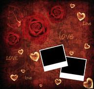 valentine background card - stock illustration