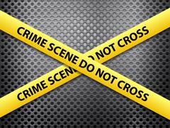 crime scene metal background - stock illustration