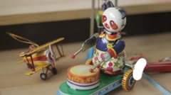 Vintage Tin Toys Stock Footage
