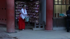Morning preparing in the temple Stock Footage