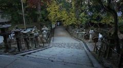 Road to the temple Stock Footage