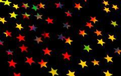 festive starry background - stock illustration