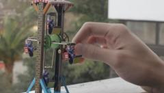 Ferris Wheel Tin Toy Stock Footage