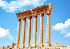 jupiter's temple, baalbek, lebanon - stock photo