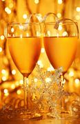 Romantic holiday celebration Stock Photos