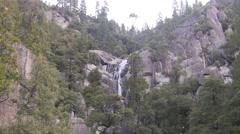 Yosemite falls in January drought Stock Footage