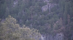 The approaching storm on Half Dome Stock Footage