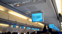 KLM (Royal Dutch Airlines) airplane in flight, salon diversity. Stock Footage