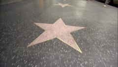 hollywood star walk of fame - stock footage