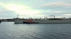 Great Eastern tanker in Boston Stock Footage