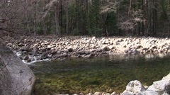 Fishing hole in Yosemite Stock Footage