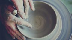 Handcraft pottery - stock footage