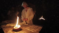 Old medieval profession - stock footage