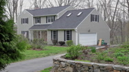 Stock Video Footage of Suburban home in eastern USA, slider