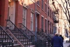 Chelsea Apartment Building Establishing Shot NTSC Stock Footage