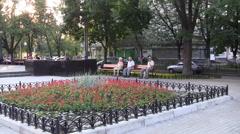 Flowers Square Kiev Stock Footage