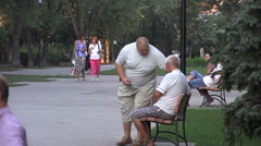 Old People Kiev Stock Footage