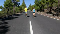 Sport fitness running people jogging outdoors Stock Footage
