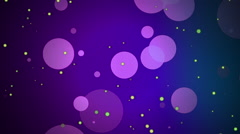 Purple Bokeh Background with Yellow Flecks Stock Footage