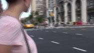 Stock Video Footage of People crossing Manhattan Street #193