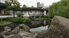 Sun Yat Sen Park, Vancouver dolly shot Stock Footage