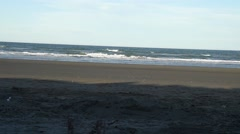 Beach far horizon dutch angle Stock Footage