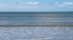 Frontal sea horizon from beach Stock Footage