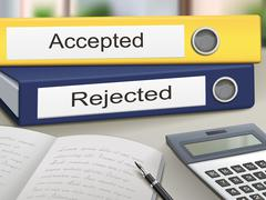 Accepted and rejected binders Stock Illustration