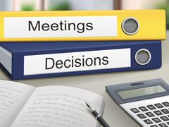 Meetings and decisions binders Stock Illustration