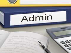 Admin binders Stock Illustration