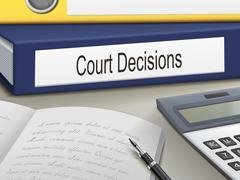 Court decisions binders Stock Illustration