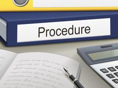 Procedure binders Stock Illustration