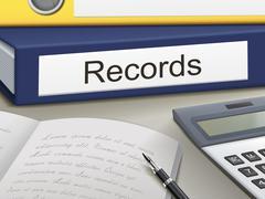 records binders - stock illustration