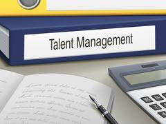 talent management binders - stock illustration