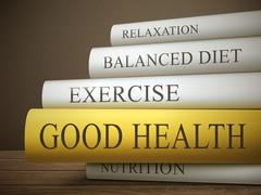 book title of good health - stock illustration