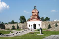historical monument kuznetsk fortress in novokuznetsk, russia  - stock photo