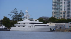 Mega Yatch Talisman C-2 Stock Footage