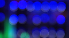 Cascading multicolored lights (Blurred/Un-sharp) Stock Footage