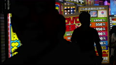Time Lapse of People in Front of Japanese Advertisements - Tokyo Japan Stock Footage