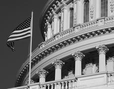 Capitol, Balck and White - close up wiev Stock Photos