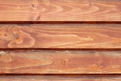 Textured exterior of a lodge, spruce boards Stock Photos