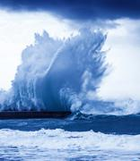 giant waves - stock photo