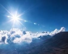 Bright sun in the sky Stock Photos